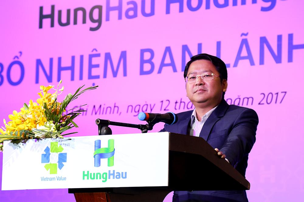 Ông Trần Văn Hậu – Chủ tịch Hội đồng Quản trị HungHau Holdings phát biểu