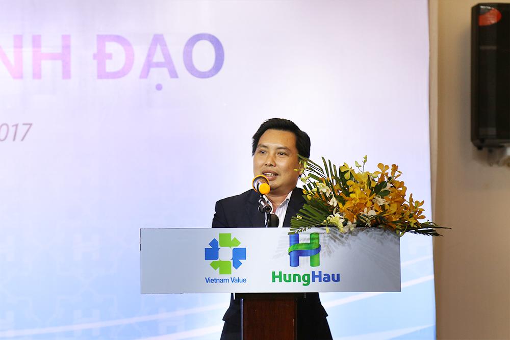 Ông Từ Thanh Phụng – Tân Giám đốc Điều hành Thường trực phát biểu sau khi nhận quyết định bổ nhiệm
