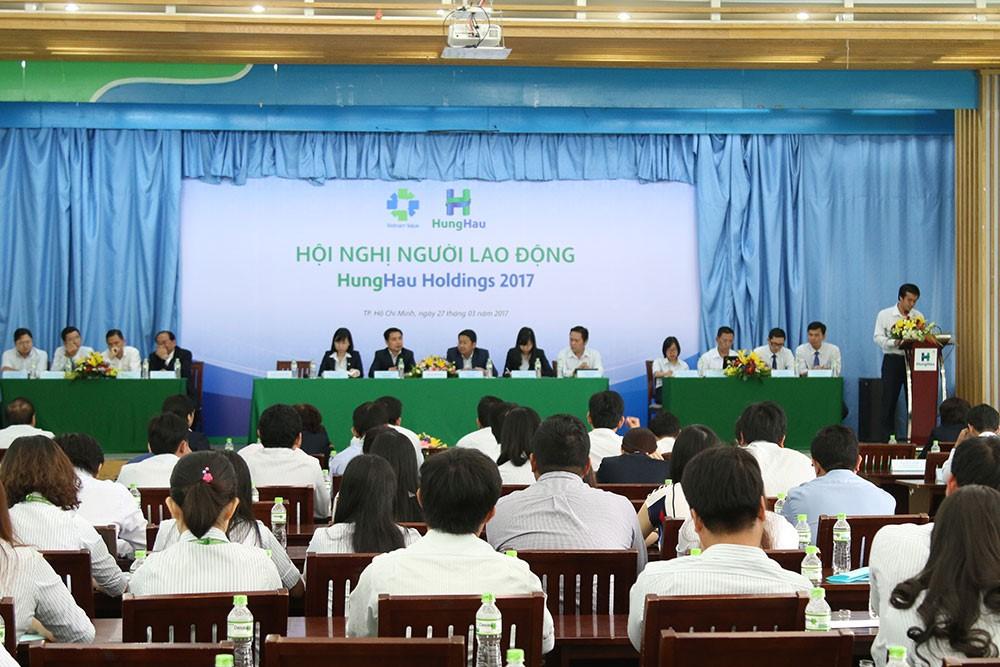 Toàn cảnh Hội nghị Người lao động HungHau Holdings